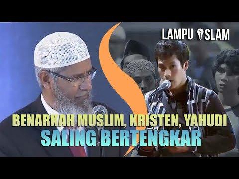 Dr. Zakir Naik TERTANTANG DENGAN Pertanyaan Pemuda Kristen Ini