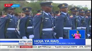 Rais Uhuru Kenyatta ahudhuria hafla ya wanajeshi wa Cadet kambi la Lanet-Nakuru