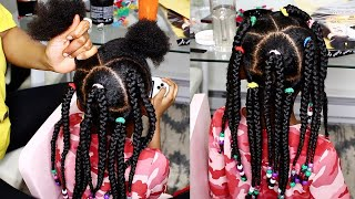 CUTE & SIMPLE HAIRSTYLES FOR KIDS (TWINS HAIR TRANSFORMATION : BRAIDS FOR KIDS) | OMABELLETV