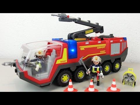 Playmobil Flughafenlöschfahrzeug 5337 auspacken seratus1 Feuerwehr Neuheit 2016