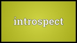 Introspect Meaning