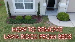 How to Remove Lava Rock & Prepare Landscape Beds for Mulch