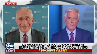Dr. Fauci says President Trump did not distort the coronavirus information they discussed