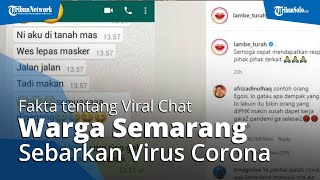 Fakta di Balik Viralnya Chat WhatsApp Warga di Semarang Ingin Menularkan Covid-19, Ini Penjelasannya