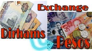 Dirhams to Pesos Conversion