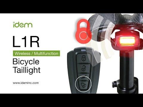 Bike Tail Light - Idem L1R FCC Certified 4in1 Bike Tail Light/Anti Theft Alarm/Bike Remote Control