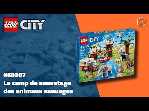 Vidéo LEGO City 60307 : Le camp de sauvetage des animaux sauvages