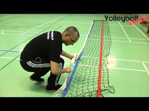 Volleyballnetz reparieren - Spannseil einfach einfädeln