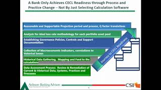 Webinar - Update on CECL Implementation for Community Banks - What Regulators are Expecting in 2019