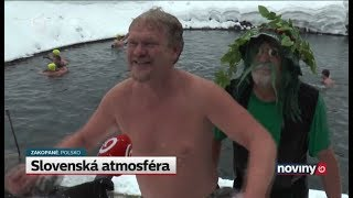 Slovenská atmosféra v poľskom Zakopanom (NOVINY TV JOJ)
