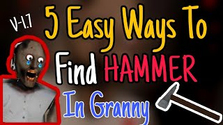 ALL LOCATION OF HAMMER IN GRANNY | GRANNY HORROR GAME | GAME TOWN