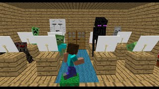 Monster School: Drawing - Minecraft Animation