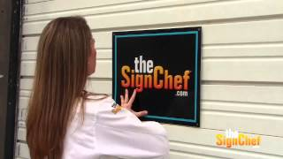 How To Install Your New Sign On A Metal Surface