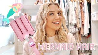 MERMAID HAIR WAVER TUTORIAL! How To Do Mermaid Hair/ Mermaid Waves