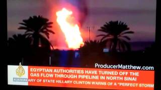 "Egytian State TV Blames ""Terrorists"" For Explosion at Gas Pipeline in Egypt"