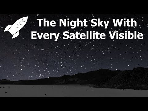 If You Could See Every Satellite, What Would The Sky Look Like?