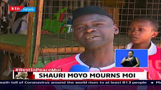 Shauri Moyo Mourns Moi: Some residents hoisted one of the oldest flags the KANU flag