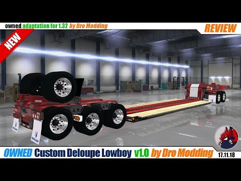 STEP-DECK FLATBED TRAILER MOD FOR 1 32 ATS | YOU CAN BUY AND