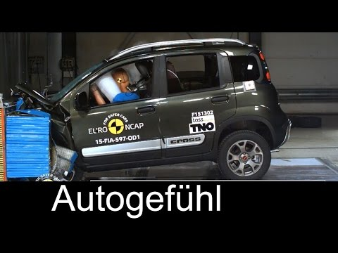 Fiat Panda Cross 2015/2016 Crash Test 3 stars Euro NCAP - Autogefühl