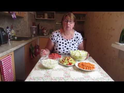 Овощное рагу на зиму 2 в 1 - закуска и гарнир.