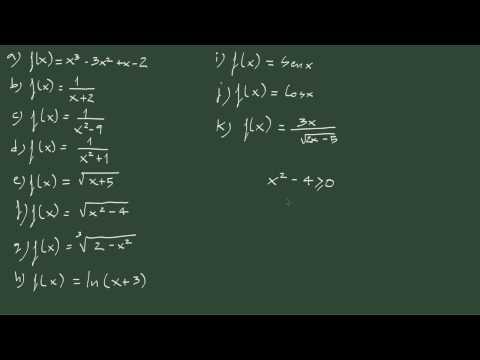 2. Cómo hallar el dominio de una función.