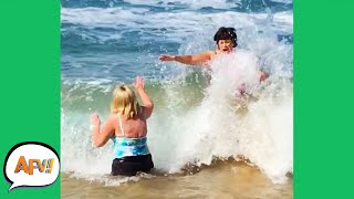 One Wave, TWO FAILS! 🌊😅 | Funny Videos | AFV 2020
