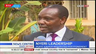 Burial preparations for the late Nyeri Governor Wahome Gakuru ongoing