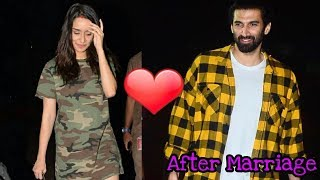 Married couple Shraddha Kapoor and Aditya Roy come out to celebrate Aditya
