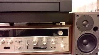 レーザーターンテーブルでCDー 4レコードを再生してみました。