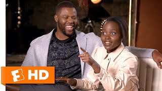 Lupita Nyong'o & Winston Duke Compare Jordan Peele & Ryan Coogler's Directing Styles | Us Interview