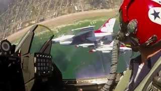 Fly Amongst The Solo Thunder - USAF Thunderbirds