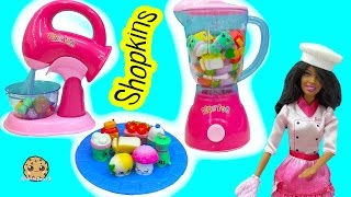 Shopkins Season 6 Chef Club Packs with Surprise Blind Bags Mixed in Water Blender