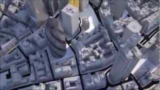preview picture of video 'New City of London Skyline 3D Animation Flyover'