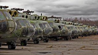 Кладбище военной техники. Стоянка вертолётов 419-го авиаремонтного завода