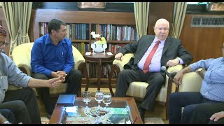 ראובן ריבלין נפגש עם ראשי הרשויות הדרוזיות