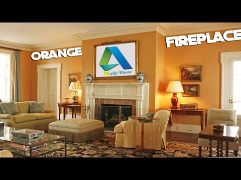 [Daily Decor] Orange Living Room Ideas With Fireplace Mp3