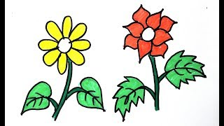 How To Draw Flowers || Flowers Coloring Pages || Drawing Flowers