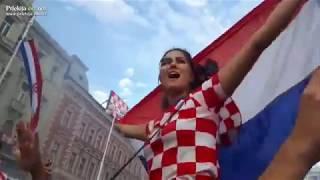 Slavje hrvaških navijačev v Zagrebu
