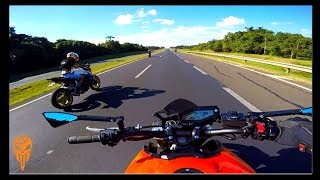 Racha MT09 Vs CB1000 - No Que Deu ? (Bauru-SP)