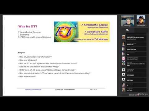 ET Online 2016 mit Sabine Wolf  - Einführung