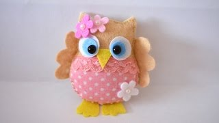How To Make A Pretty Felt And Fabric Owl - DIY Crafts Tutorial - Guidecentral