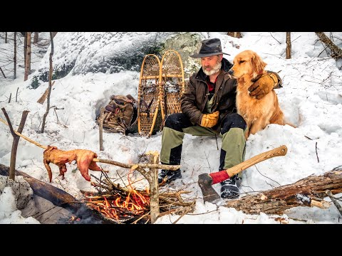 Winter Camping, Minimal Gear, Outdoor Cooking | Bushcraft and Survival Ep1