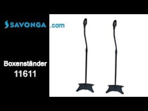Savonga® 11611 Boxenständer Lautsprecherständer Halter für Satelliten Lautsprecher/ Boxen bis 4,5kg