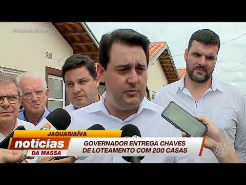 Governador Ratinho Júnior entrega casa para famílias