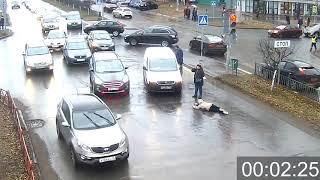 Наезд на пешехода. ДТП Машиностроителей/С.Орджоникидзе.17.11.18