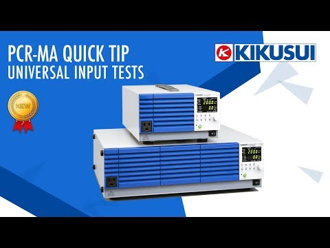 Video of PCR-MA Quick Tip: Universal Input