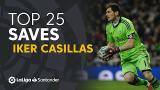 TOP 25 SAVES Iker Casillas en LaLiga Santander