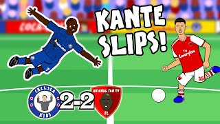 🔵KANTE SLIP! MARTINELLI GOAL!🔴 (Chelsea vs Arsenal 2-2 -the cartoon! Goals highlights Luiz Red 2020)
