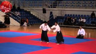 preview picture of video 'Aikido Demostration @ Peristeri - Open Championship 2013'