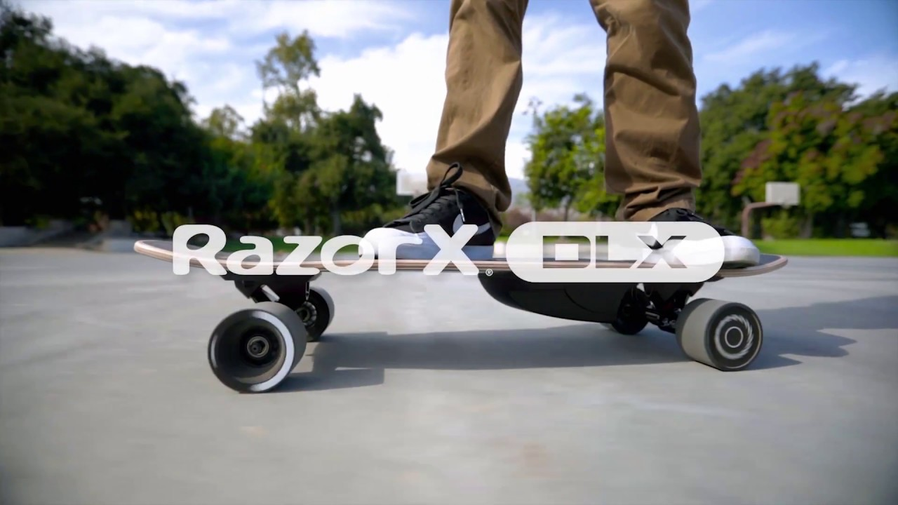 RazorX DLX Electric Skateboard Ride Video